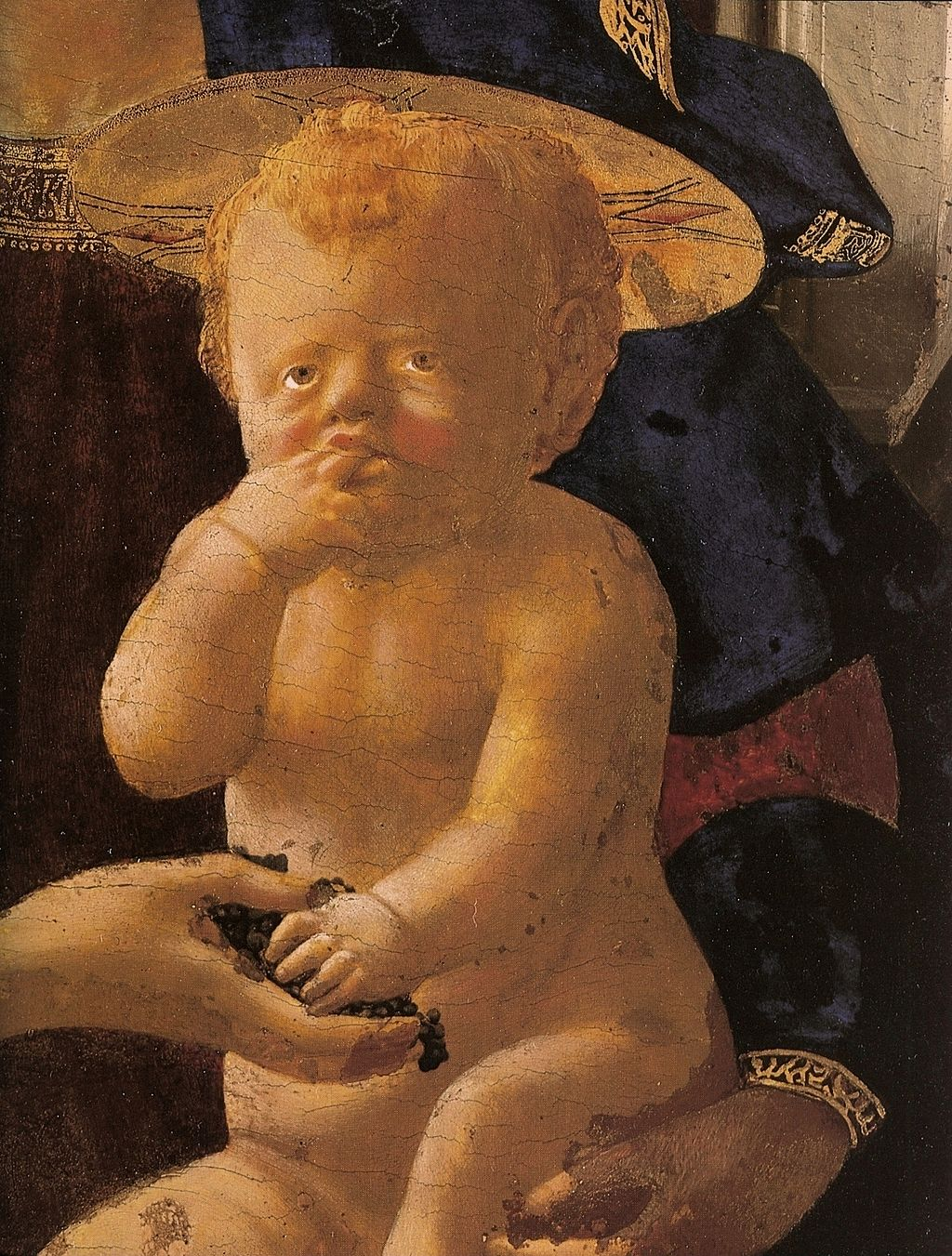Masaccio, Madonna with Child and Angels (detail), 1426, egg tempera on poplar, 136 x 73 cm, National Gallery, London