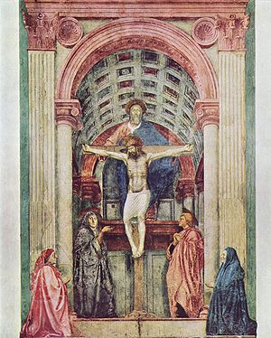 Trinity - The Holy Trinity, by Masaccio (1425)