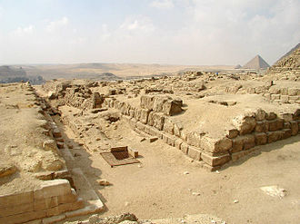 Giza East Field - Mastabas to the east of the pyramid of Khufu.