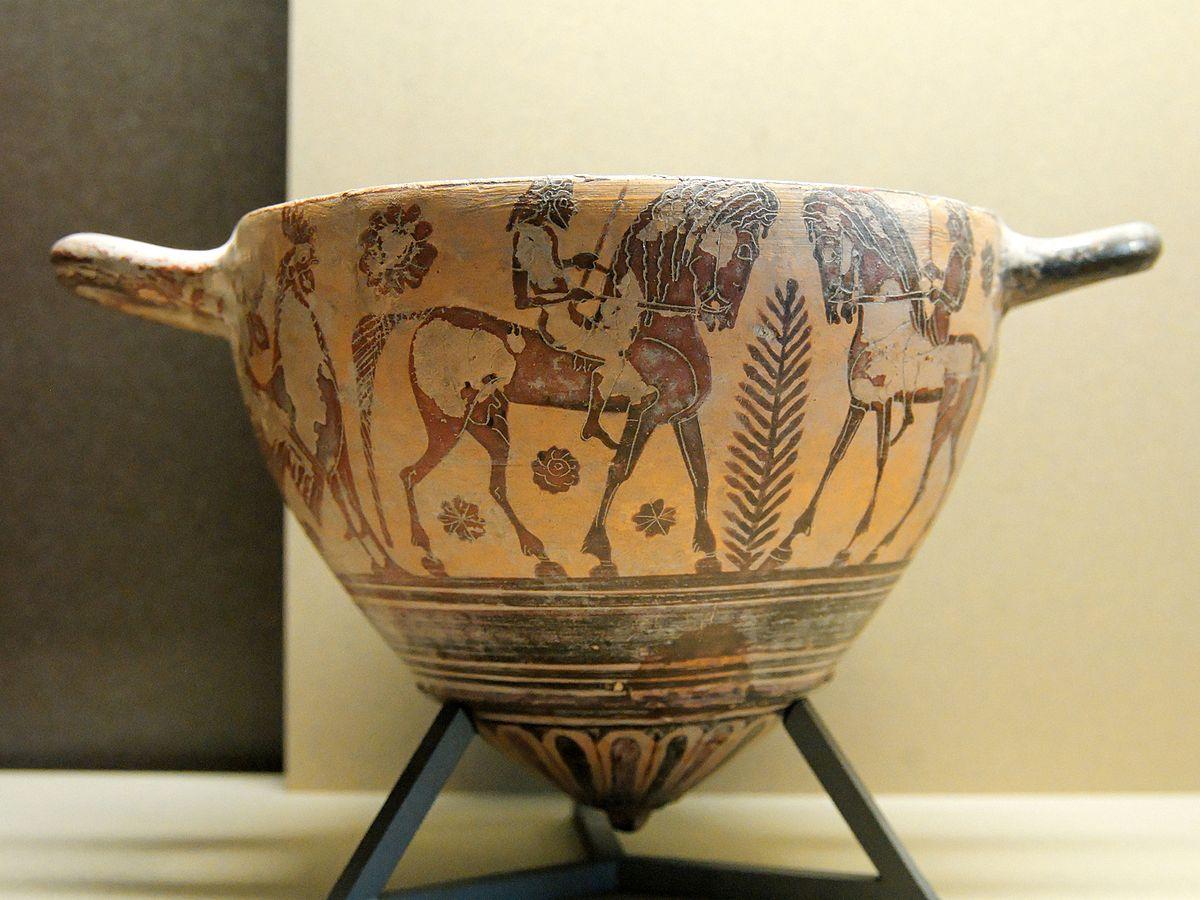 Древнегреческие сосуды. Керамические вазы, вазопись   900x1200