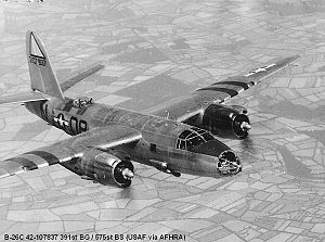 111th Fighter Wing - Martin B-26C Marauder Serial 42-107837 of the 575th Bomb Squadron.