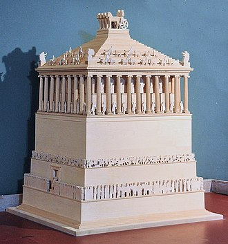 Mausoleum at Halicarnassus - Model of the Mausoleum at Halicarnassus, at the Bodrum Museum of Underwater Archaeology.
