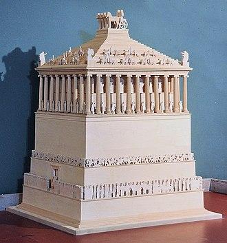Mausoleum at Halicarnassus - Model of the Mausoleum at Halicarnassus, at the Bodrum Museum of Underwater Archaeology.