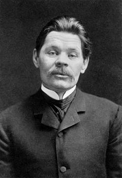 Porträtt av Maksim Gorkij, cirka 1906.