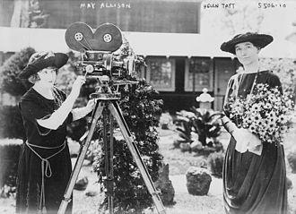 May Allison - May Allison (left) with Helen Taft.