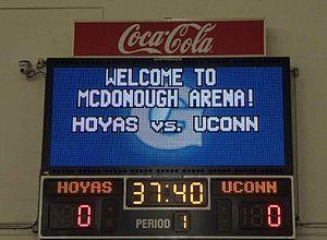 McDonough Gymnasium - McDonough Gymnasium's scoreboard.