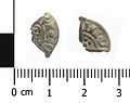 Medieval coin, cut farthing of Henry III (Obverse and reverse). (FindID 641251).jpg