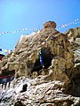Meditation caves above Dhankar Gompa.jpg