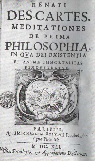 Meditationes de prima philosophia - Renatus Cartesius
