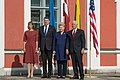 Meeting of Estonian President Kersti Kaljulaid, Latvian President Raimonds Vējonis, Lithuanian President Dalia Grybauskaitė and United States Vice President Mike Pence (35476721143).jpg