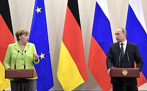 International sanctions during the Ukrainian crisis - Image: Meeting with Federal Chancellor of Germany Angela Merkel 7
