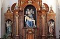 Meran Kapuzinerkirche Kapellenaltar Figuren Dominikus Trenkwalder.jpg