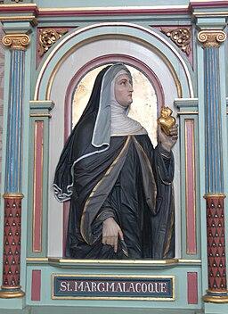 Merazhofen Pfarrkirche Chorgestühl links Margaretha Maria Alacoque