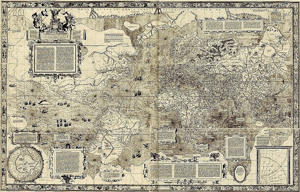Mercator 1569 map small