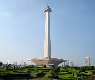 The Amazing Race Asia 1 - The National Monument in Indonesia's capital city of Jakarta served as the Pit Stop of this leg of the race.