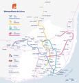 Metro Lisboa with suburban railway lines.png