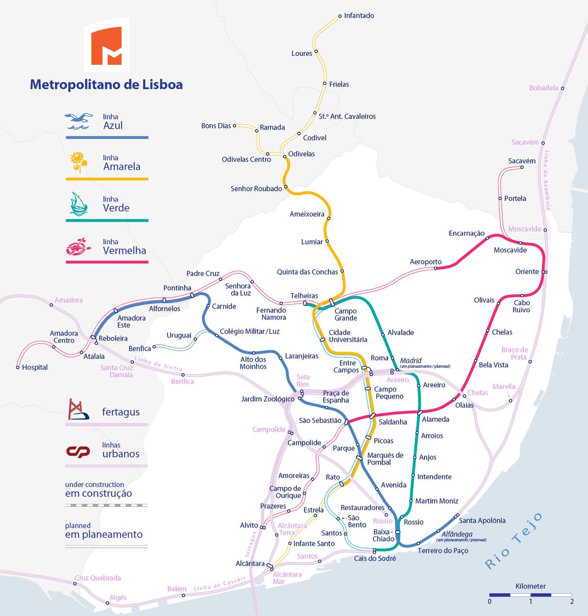 mapa transportes publicos lisboa Transportes de Lisboa – Wikipédia, a enciclopédia livre mapa transportes publicos lisboa