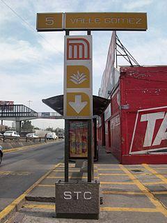 Valle Gómez metro station Mexico City Metro station