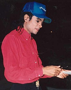 Jackson in 1988 in the middle of his skin transformation