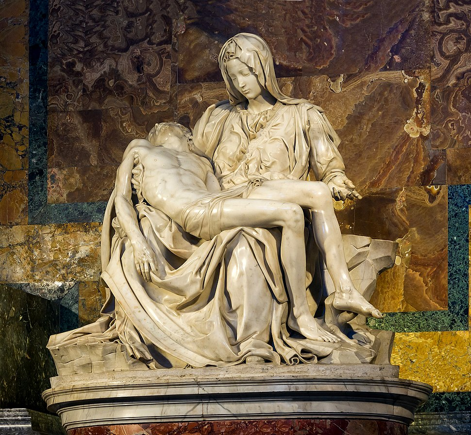 Michelangelo's Pietà, in the Basilica, is one of the Vatican's best known artworks.