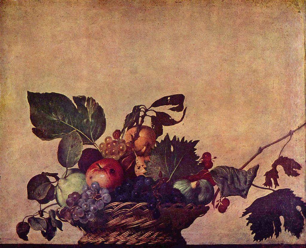 Cesta de frutas. 1594/96. Pinacoteca Ambrosiana. Milan