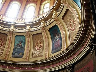 Michigan State Capitol - Muses