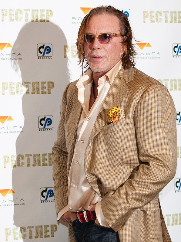 Mickey Rourke in Moscow