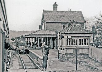 Midhurst railway station - Last day of passenger services, 1955