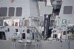 Midship of USS Curtis Wilbur (DDG-54) left rear view at U.S. Fleet Activities Yokosuka April 30, 2018.jpg
