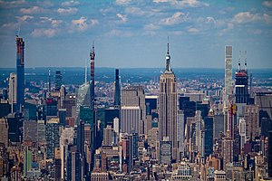 Midtown Manhattan as seen from the One World Trade Center
