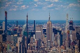 Midtown Manhattan central business district in New York City