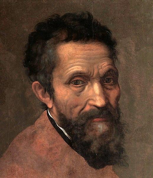 File:Miguel Ángel, por Daniele da Volterra (detalle).jpg