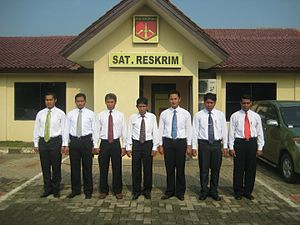 Criminal investigation department - Indonesian Police investigators from the criminal investigation unit