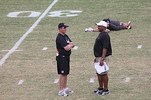 Mike Zimmer - Zimmer with Cincinnati Bengals head coach Marvin Lewis in 2011.