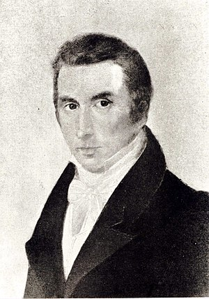 Nicolas Chopin - Nicolas Chopin.  Photo of lost painting by Ambroży Mieroszewski, 1829