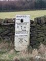 Milestone at the four ways junction, near White Lee Farm - geograph.org.uk - 720876.jpg