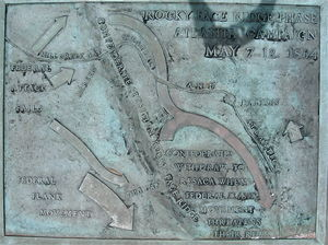 Battle of Rocky Face Ridge - Image: Mill Creek Gap plaque