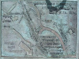 Battle of Rocky Face Ridge - Image: Mill Creek Gap plaque