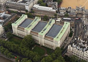 British Armed Forces - The Ministry of Defence building at Whitehall, Westminster, London