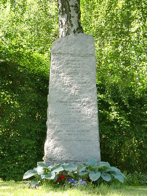 Øyvinn Øi - A memorial at Jar commemorates Øyvinn Øi, Joar Olsen, Jon Vislie and others.