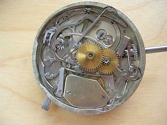 Repeater (horology) - Image: Minute repeater movement 2