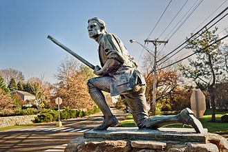 Minutemen Statue on Compo Beach Minuteman, Westport CT.jpg