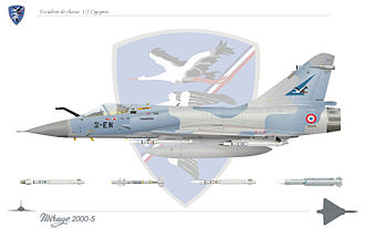 "01.002 Fighter Squadron ""Storks"" - Mirage 2000 of the Storks Squadron: escadron Cigognes"