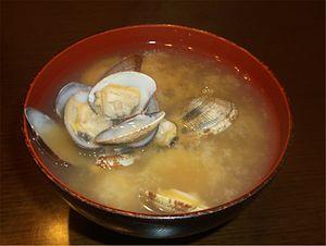 Venerupis philippinarum - Miso soup made of Japanese littleneck clams (Asari).