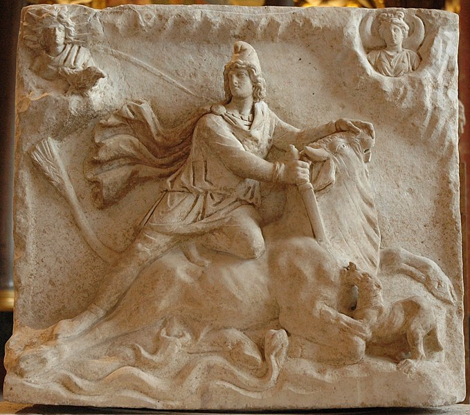 Fichier:Mithras tauroctony Louvre Ma3441.jpg