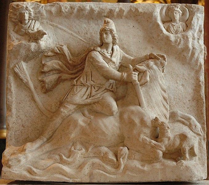 Fichier:Mithras tauroctony Louvre Ma3441.jpg