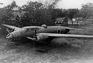 Mitsubishi G4M запечатлен на земле 1945.jpeg