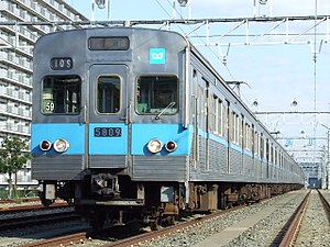Tokyo subway rolling stock - 5000 series with stainless steel body