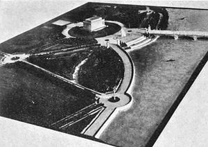 Construction of Arlington Memorial Bridge - 1926 model of the planned eastern approaches of the Arlington Memorial Bridge.