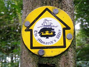 Monarch's Way - Waymark on a Public Footpath